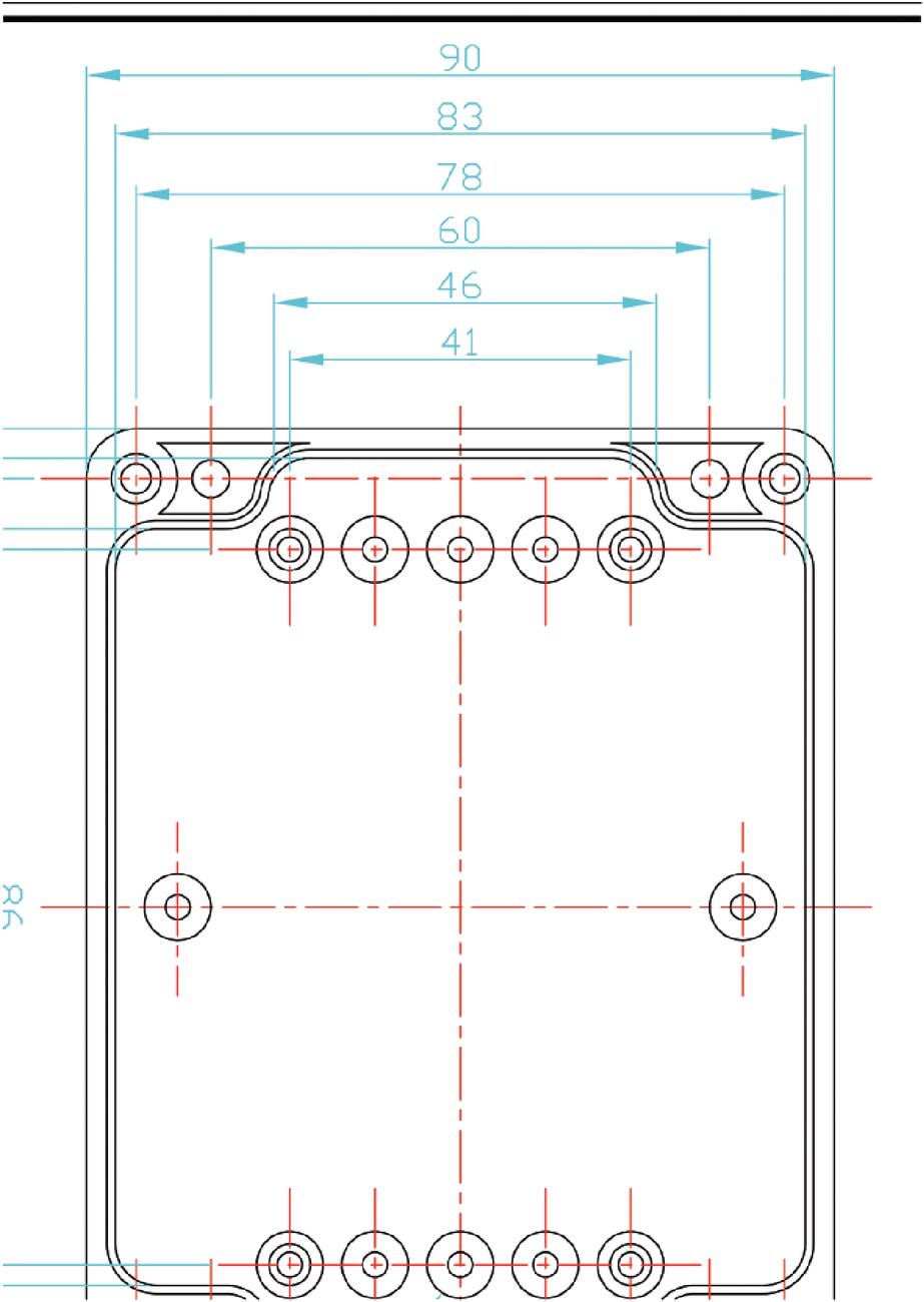 ABS behuizing 115 x 90 x 80 mm