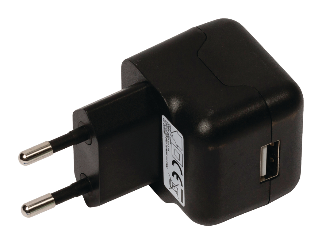 USB AC-lader USB A female AC-huisaansluiting zwart 2.1A