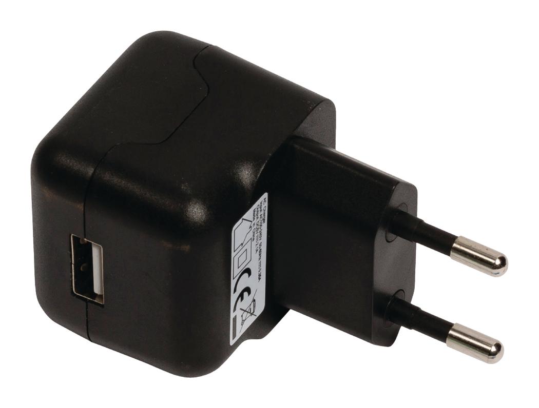 USB AC-lader USB A female AC-huisaansluiting zwart