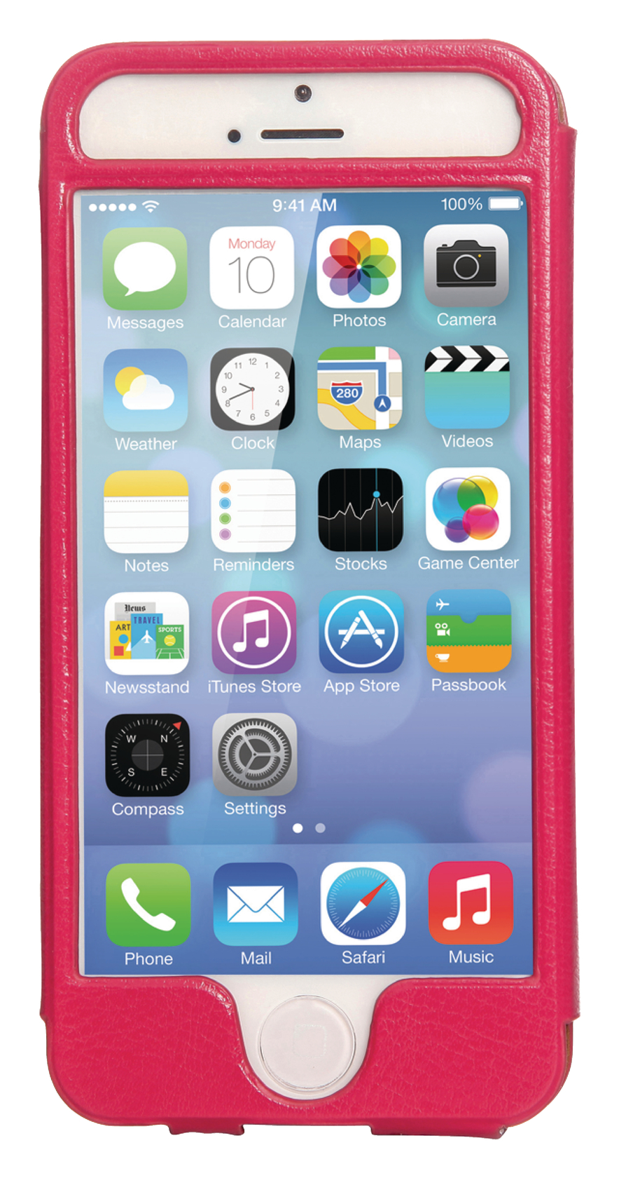 Mosaic Theory Mtel21-001 pnk Phone Case Leather For Iphone 5s-5 Pink