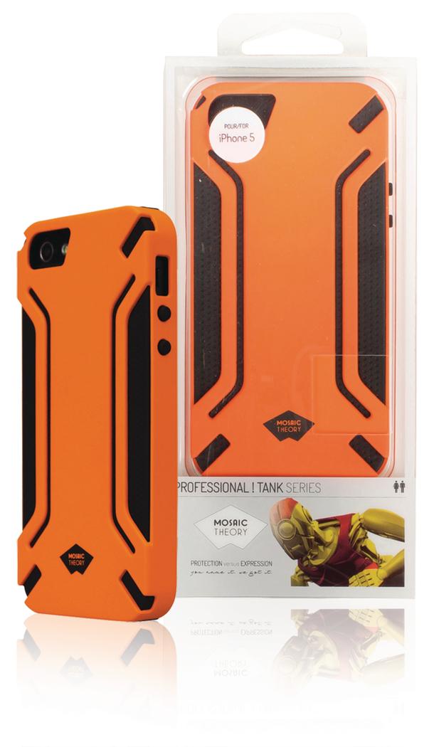 Mosaic Theory Mtpr21-002 org Siliconen-rubberachtig Telefoonhoesje voor Iphone 5s-5 Oranje