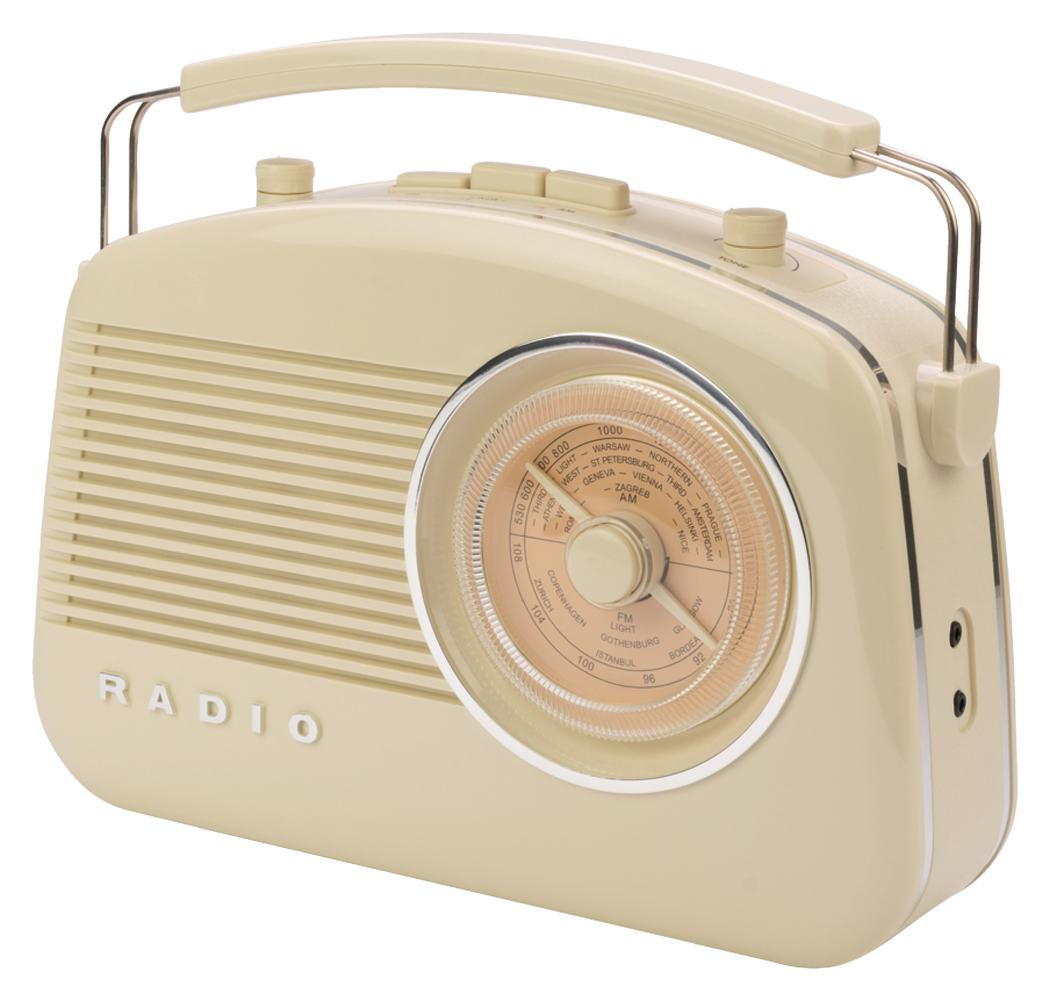 Retroradio met draadloze Bluetooth-technologie