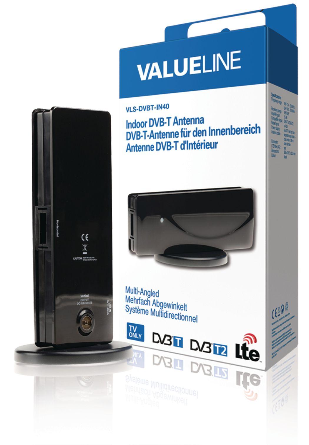Valueline DVB-T-binnenantenne meerhoekig 15 dB (VLS-DVBT-IN40)