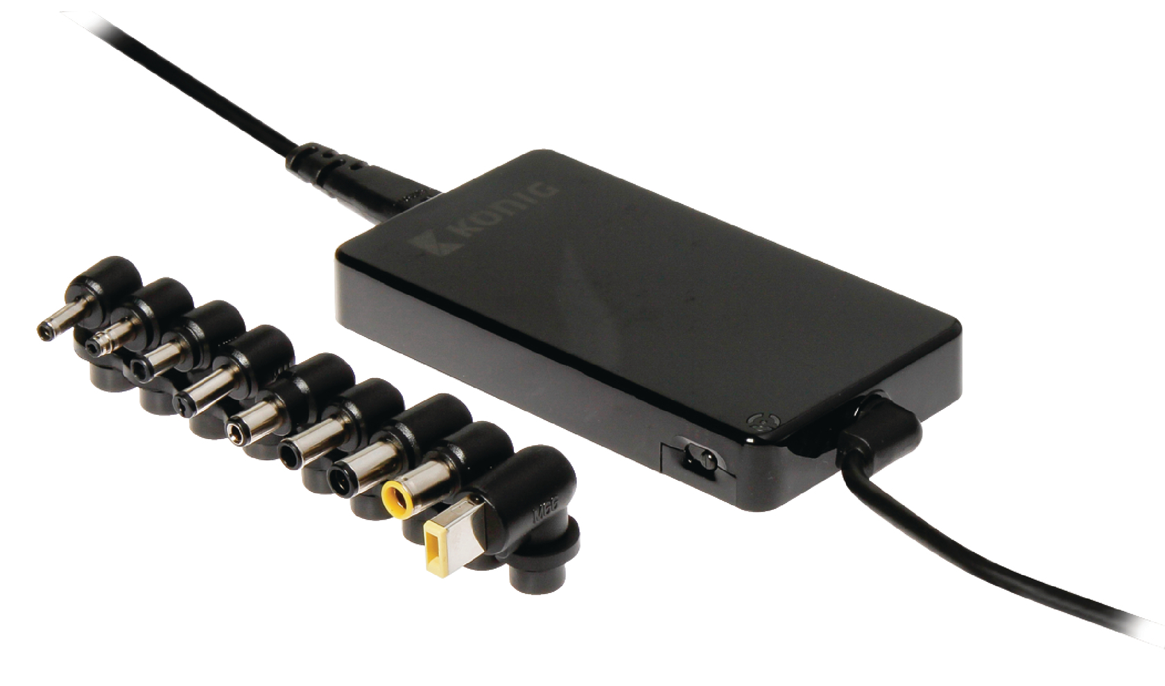 Konig Universele notebook-adapter slank 90 W met USB-poort (CSUNA90SBL)