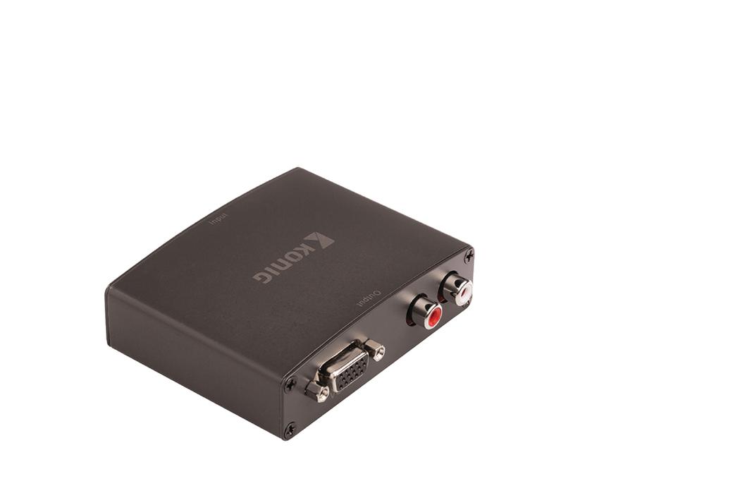 HDMI™-converter HDMI™-ingang VGA female + RL-audio donkergrijs