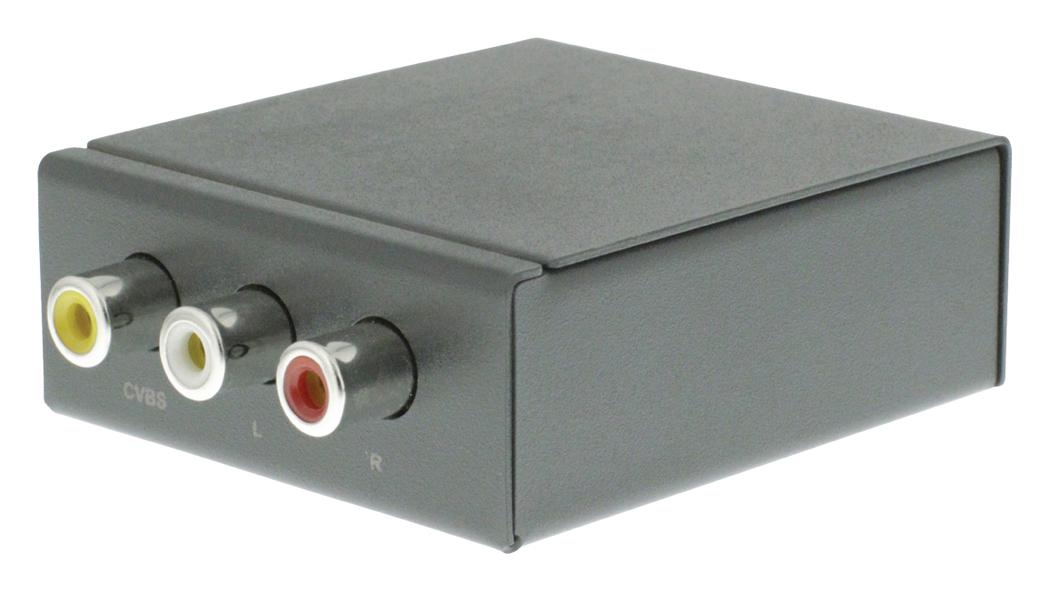 AV HDMI converter RCA-ingang HDMI-uitgang donkergrijs