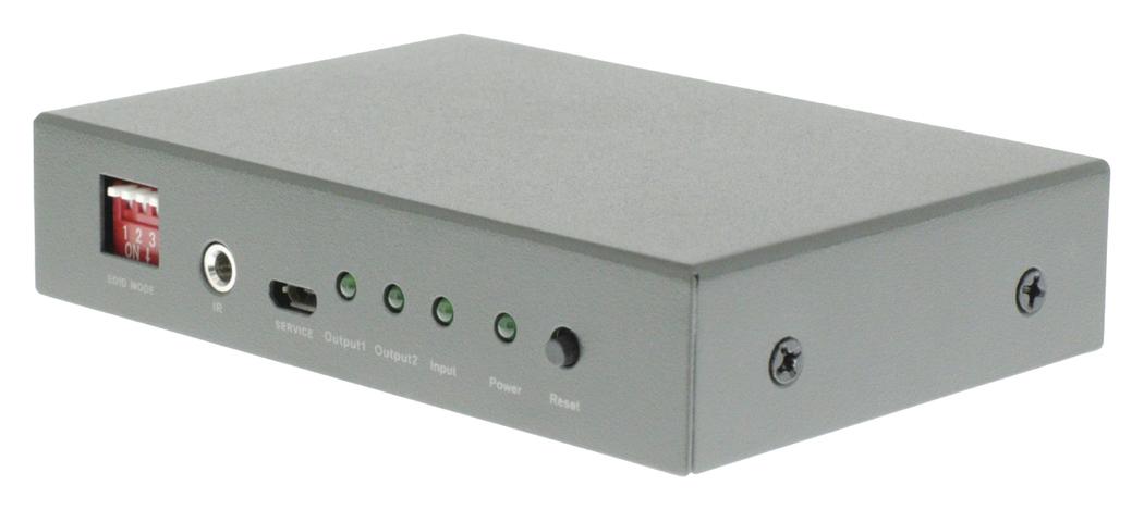 2-poorts HDMI splitter HDMI-ingang 2x HDMI-uitgang donkergrijs