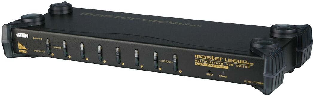 Aten 8p USB KVM, Supp PS-2, USB (CS1758)