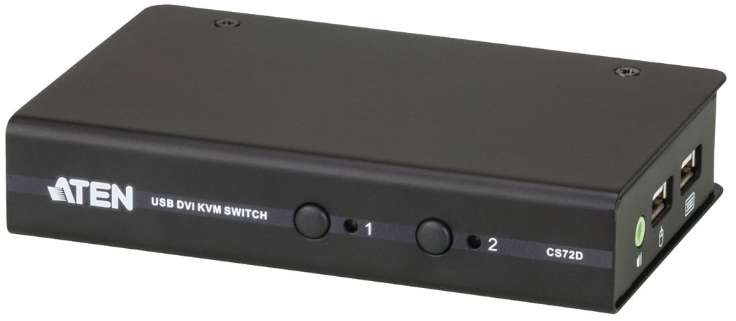 KVM switch, 2-port DVI-D USB 2.0