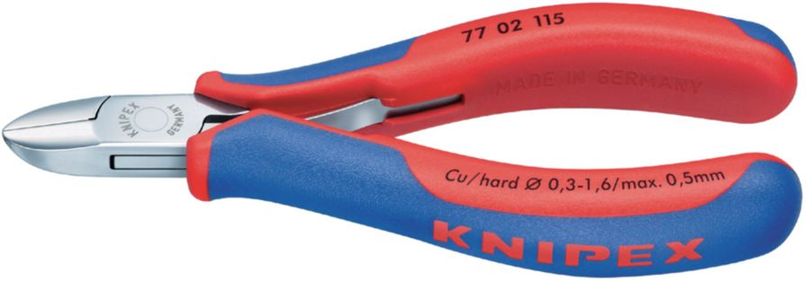 Knipex Elektro zijkniptang Knipex 77 02 115 Uitvoering Ronde kop met klein facet Snijwaarden (max.)