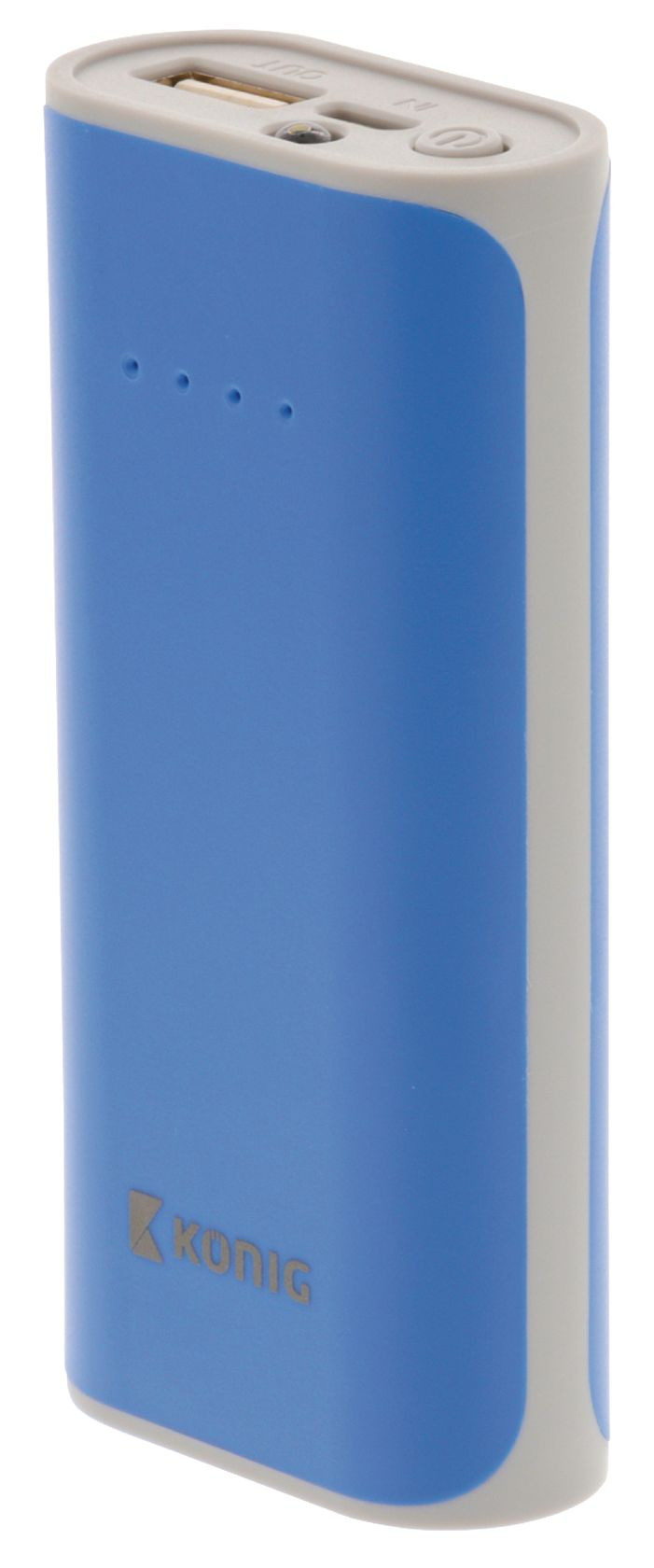 Draagbare Powerbank 5000 mAh USB Blauw