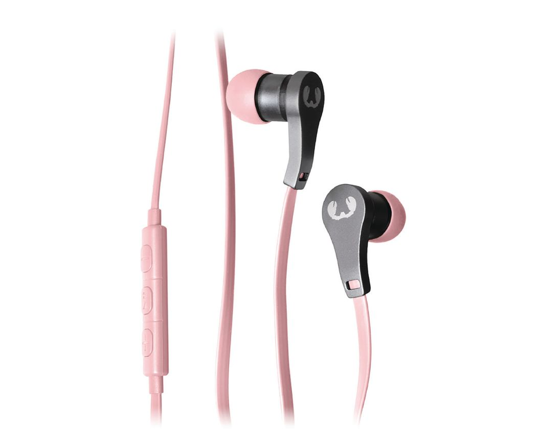 Fresh 'n Rebel Lace Earbuds in ear koptelefoon roze