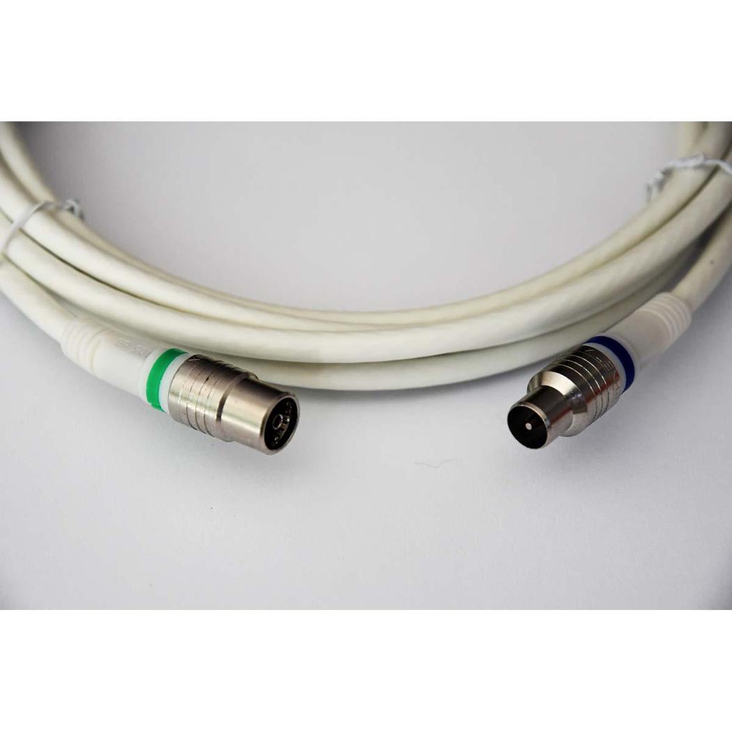 Technetix Coax kabel (M) (F) Recht 1,5 meter