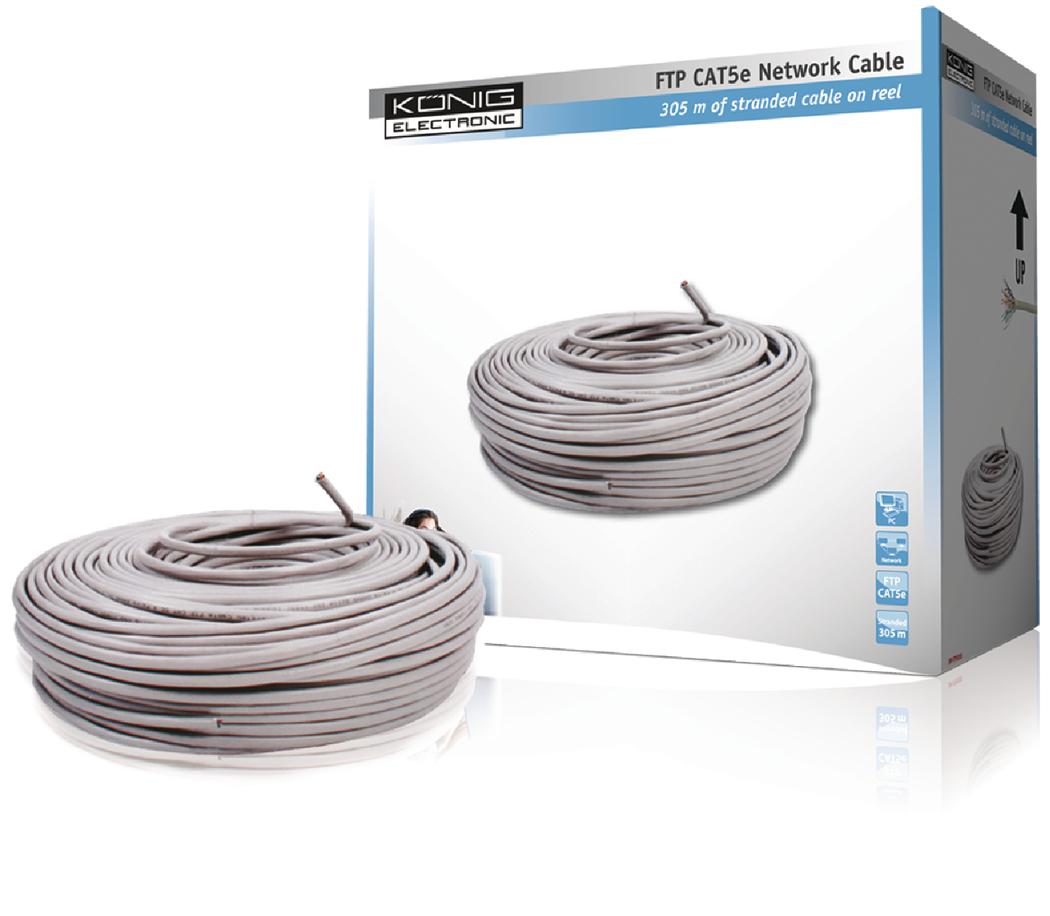 FTP CAT 5e netwerkkabel op 305 m rol