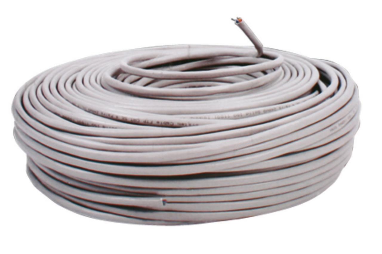 SFTP CAT 5e kabel op rol 100 m grijs