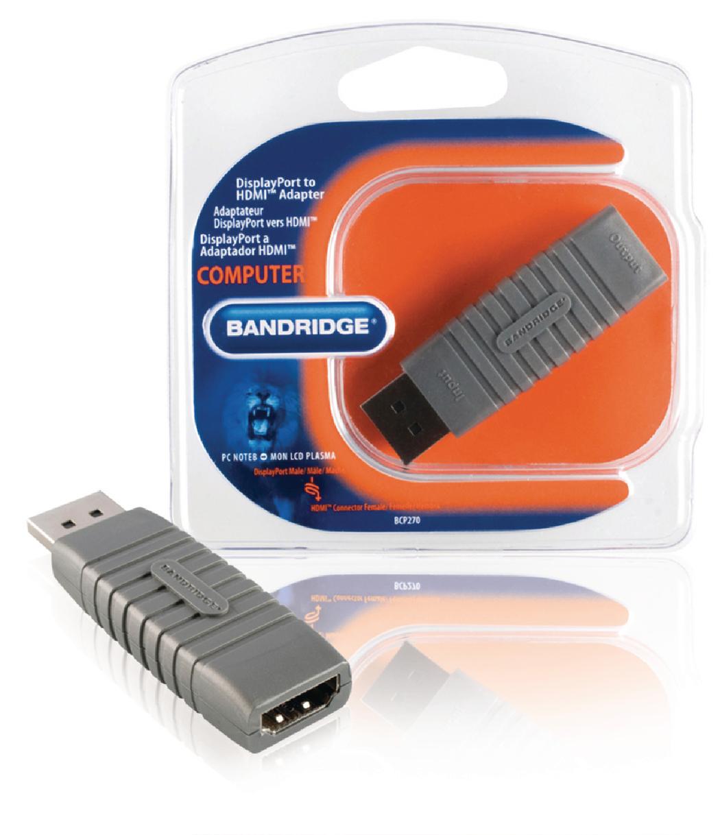 Bandridge BCP270 Displayport HDMI F adapter