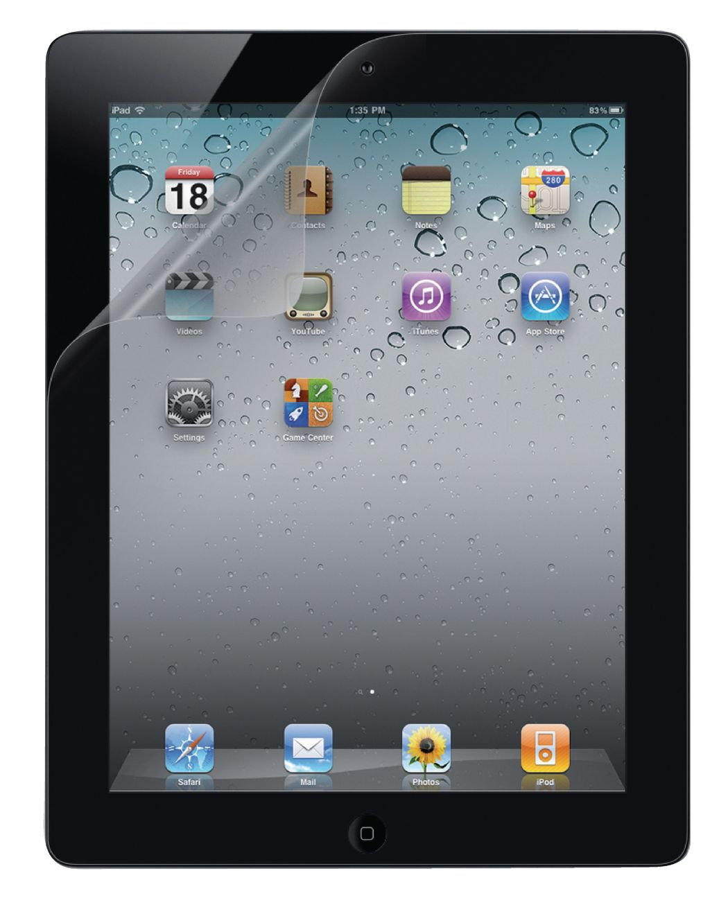 Screen overlay iPad 2, transparant