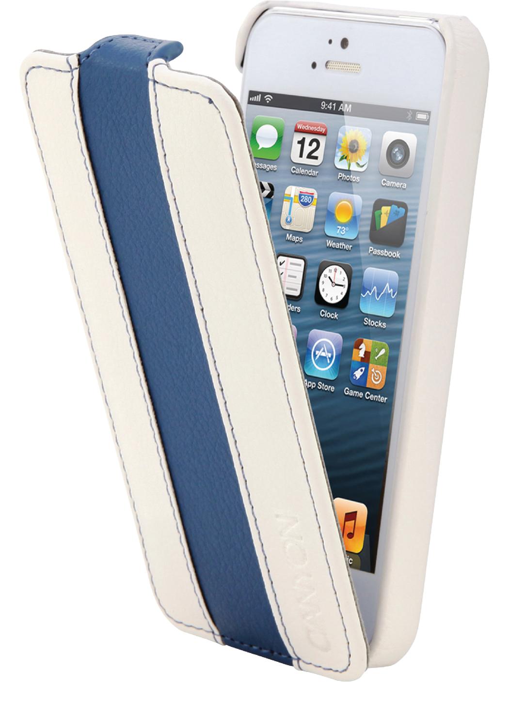 Canyon Cna-i5l01 wb Iphone 5 Lederen Hoes Wit-Blauw