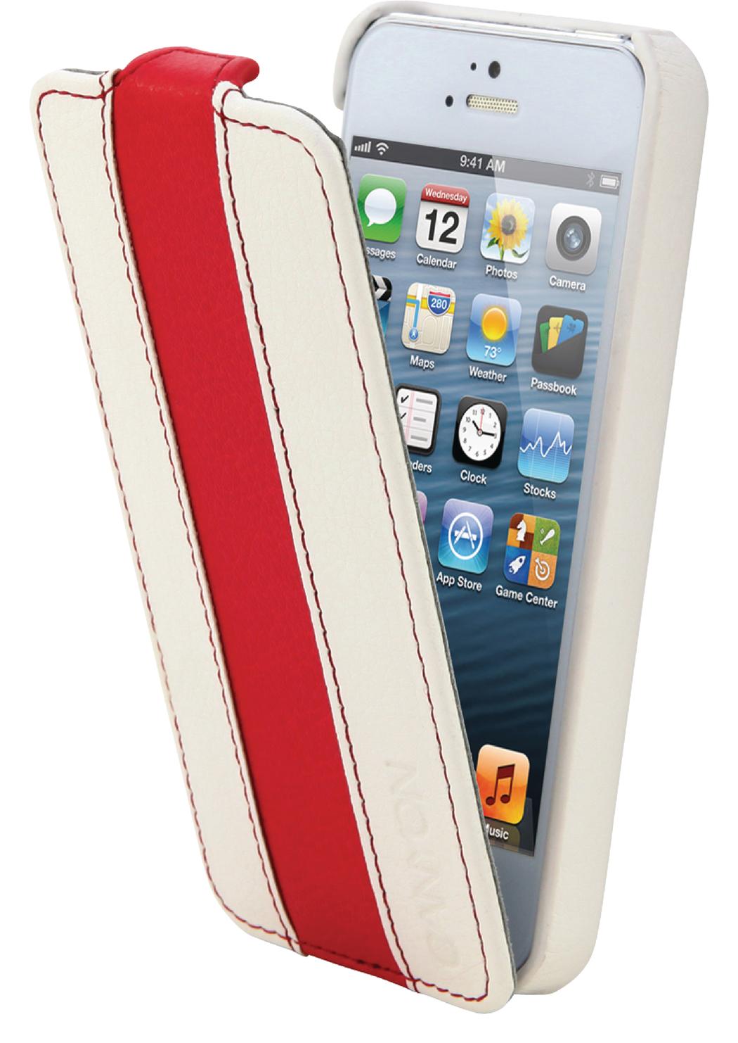 Canyon Cna-i5l01 wr Iphone 5 Lederen Hoes Wit-Rood