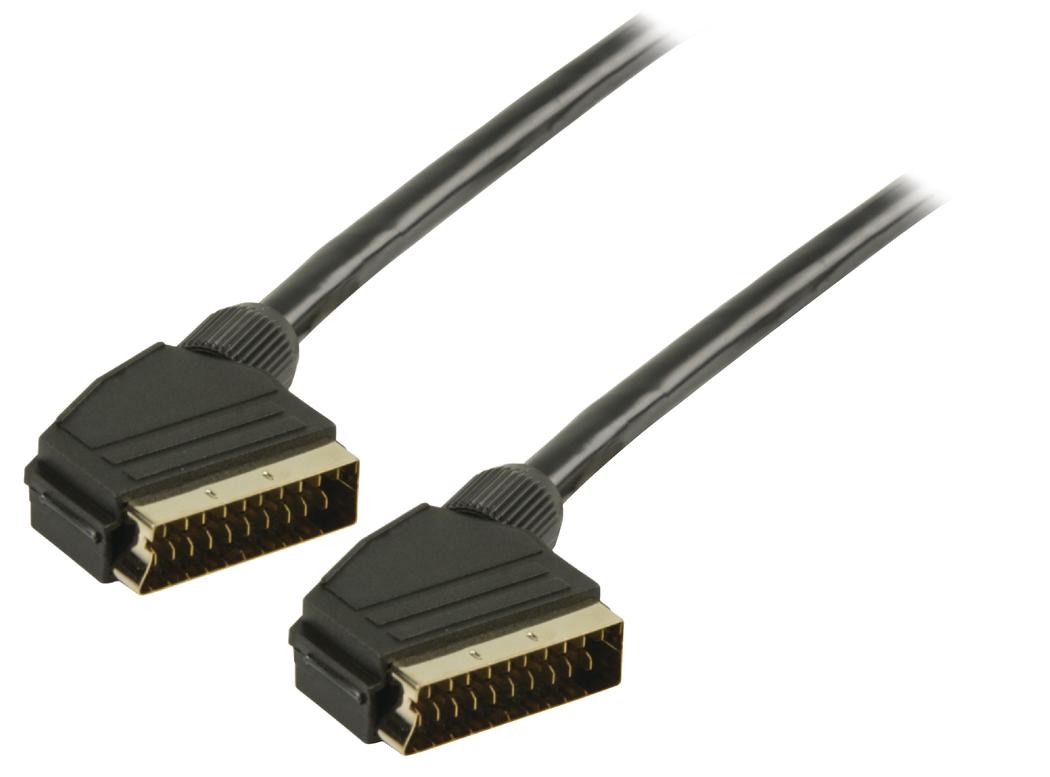 SCART kabel SCART mannelijk SCART mannelijk 3,00 m zwart