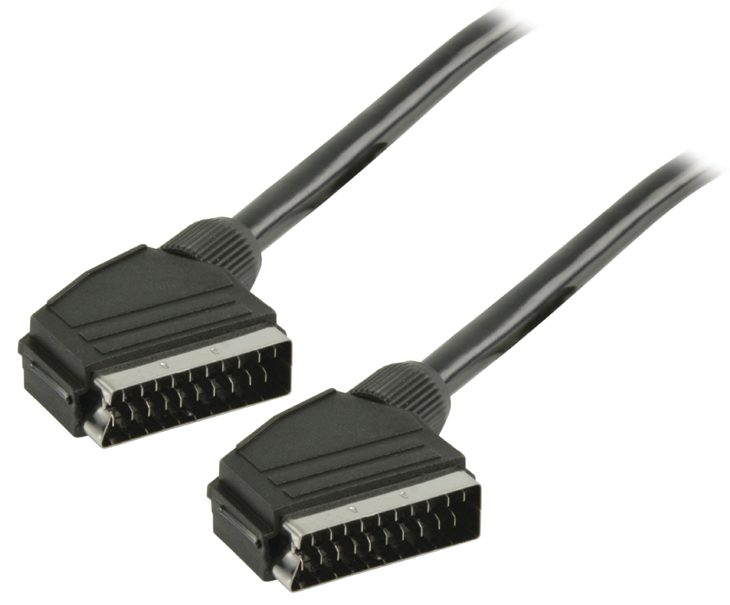SCART kabel SCART mannelijk SCART mannelijk 10,0 m zwart