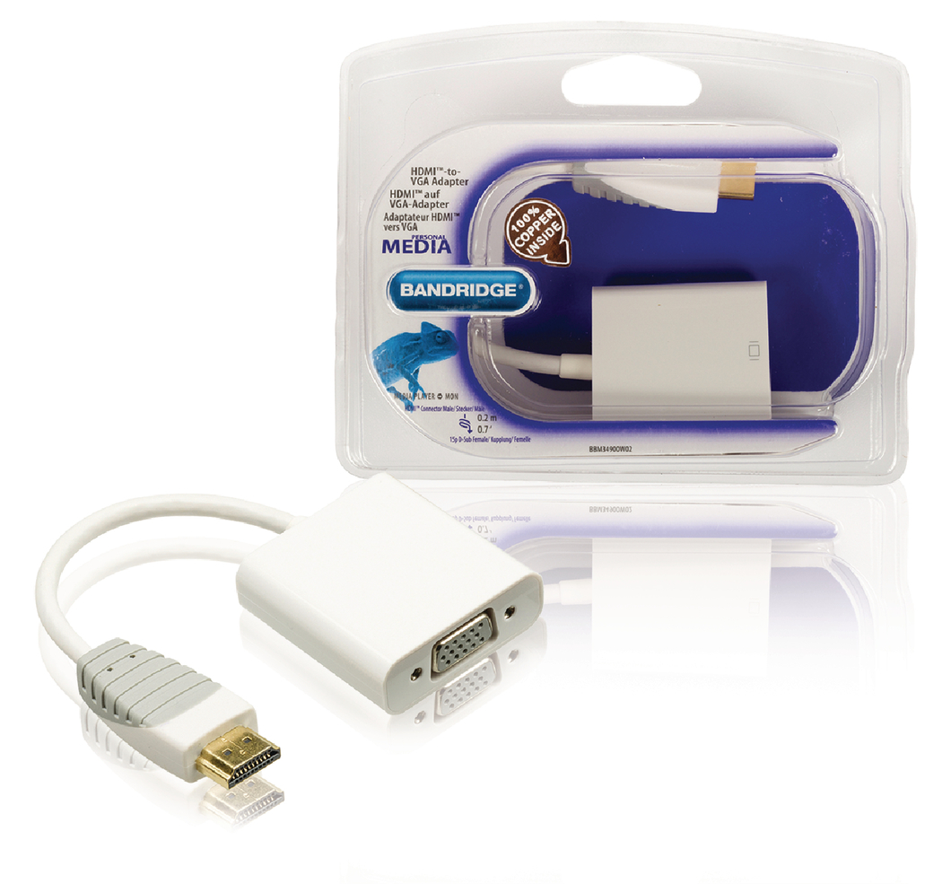 Hdmi Naar Vga-adapter Hdmi-connector Vga Contraplug 0,2 M Wit