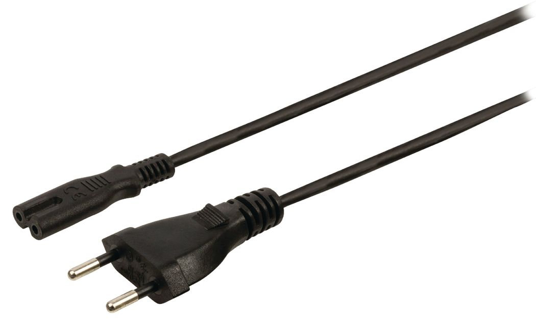 Stroomkabel Zwitserse plug mannelijk IEC-320-C7 5,00 m zwart