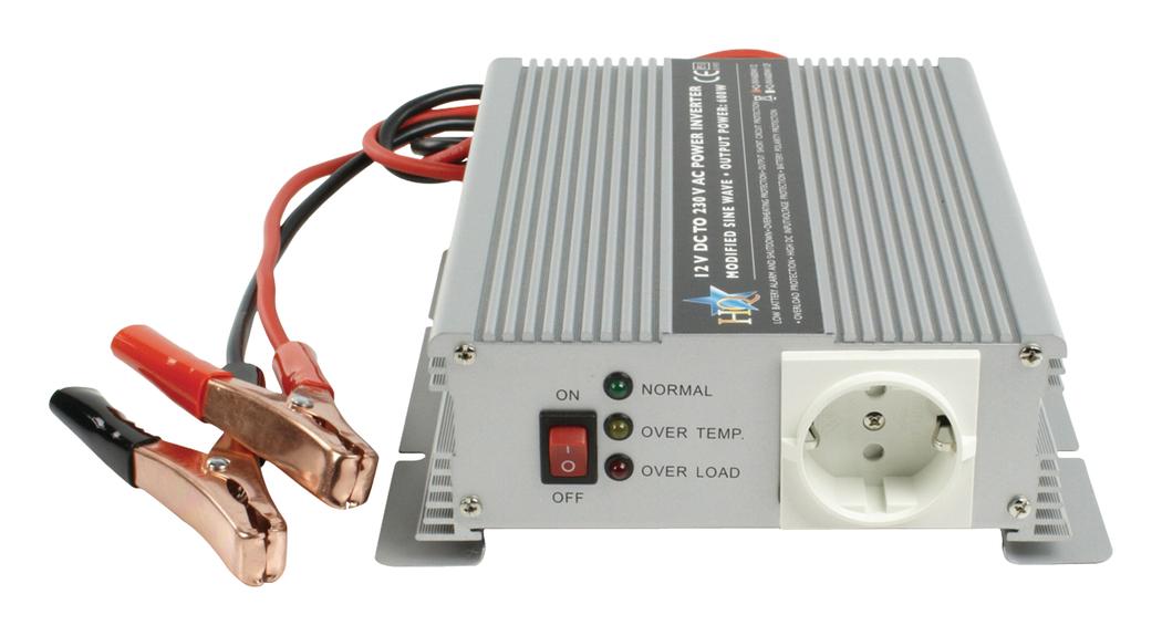 HQ INV600C-12F Omvormer 600W 12V>230V + Ingebouwde Lader