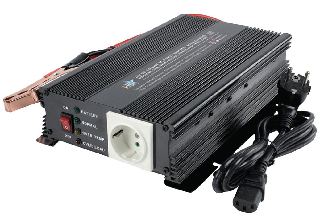 Hq Inv600c-24 Omvormer 24 230 V 600 W met Ingebouwde Lader